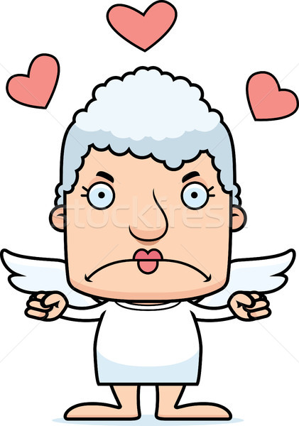 Cartoon Angry Cupid Woman Stock photo © cthoman