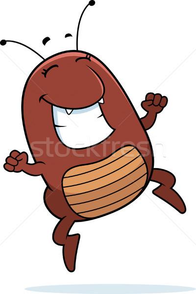 Cartoon éxito ilustración saltar sonriendo gráfico Foto stock © cthoman