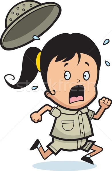 探險者 恐慌 漫畫 孩子 運行 女子 商業照片 © cthoman