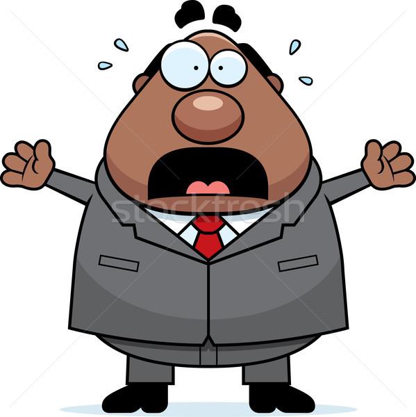 Cartoon Boss Panicking Stock photo © cthoman