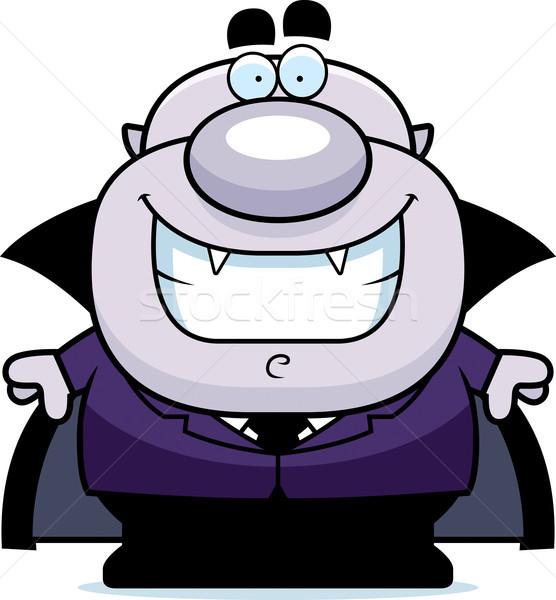 Sorridente desenho animado vampiro ilustração homens pessoa Foto stock © cthoman