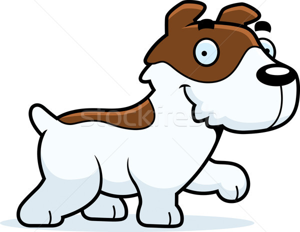 Cartoon Jack Russell Terrier Walking Stock photo © cthoman