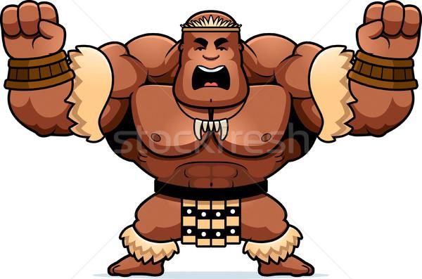 漫画 戦士 怒っ 実例 見える 男 ストックフォト © cthoman