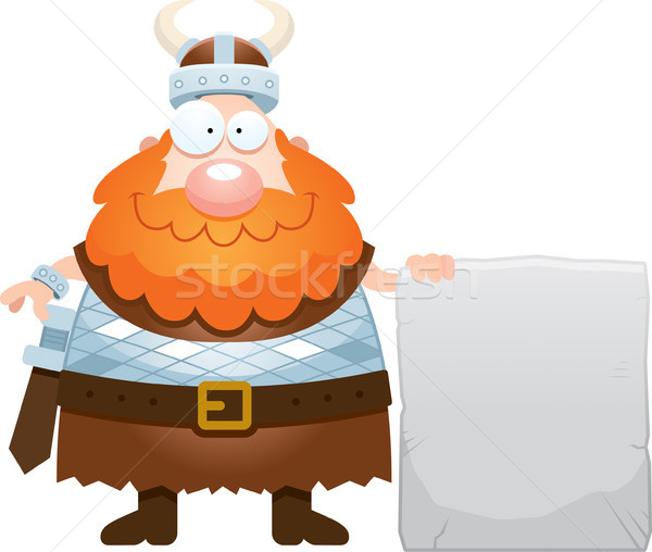 Cartoon Viking Sign Stock photo © cthoman