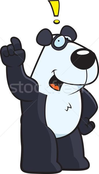 Panda idea felice cartoon Foto d'archivio © cthoman