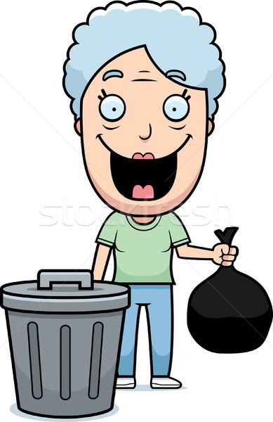 Cartoon бабушки мусор счастливым из Сток-фото © cthoman