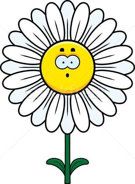 Sorpreso Daisy cartoon illustrazione guardando fiore Foto d'archivio © cthoman