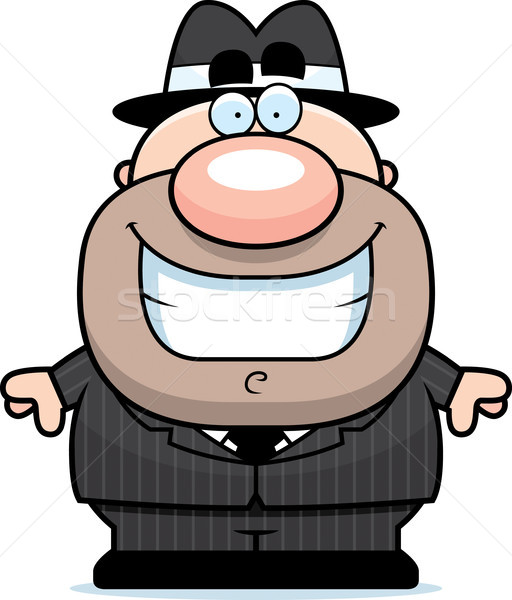 Smiling Cartoon Mobster Stock photo © cthoman