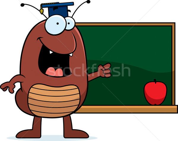 Cartoon onderwijs illustratie appel onderwijs leraar Stockfoto © cthoman
