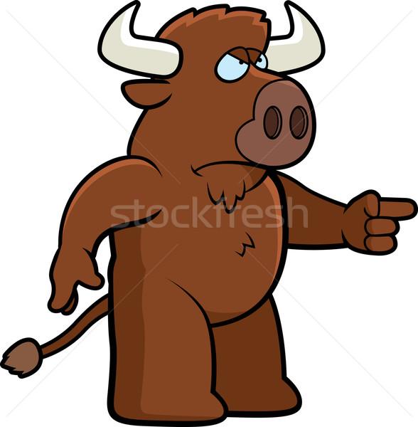 Angry Buffalo Stock photo © cthoman