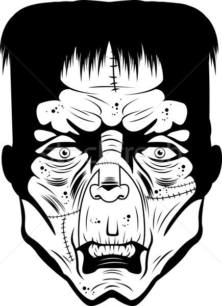 Face illustration black and white