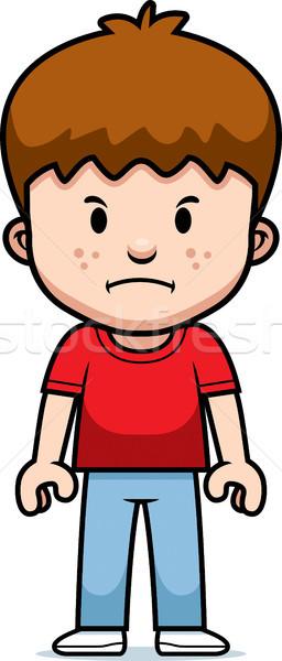 Cartoon chłopca mad dzieci dziecko młodzieży Zdjęcia stock © cthoman