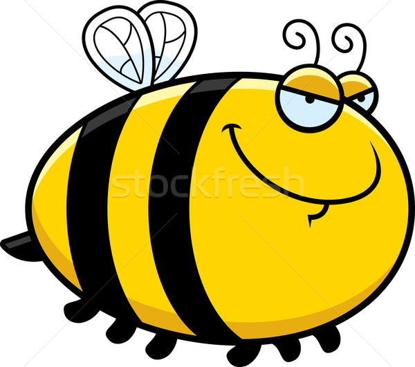 Sinsi karikatür arı örnek hayvan grafik Stok fotoğraf © cthoman