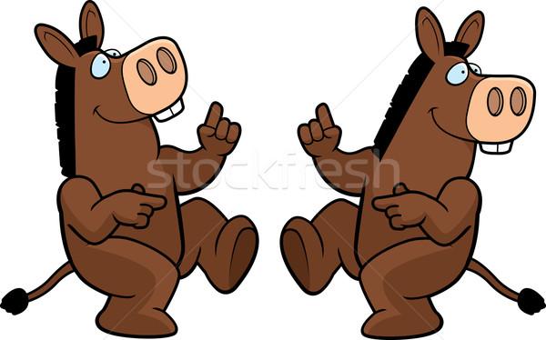 Donkey Dancing Stock photo © cthoman