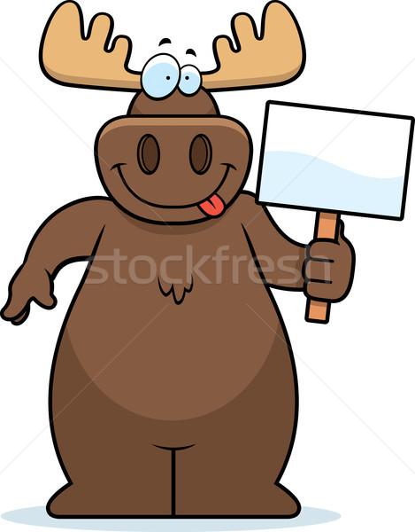 ムース にログイン 幸せ 漫画 ストックフォト © cthoman