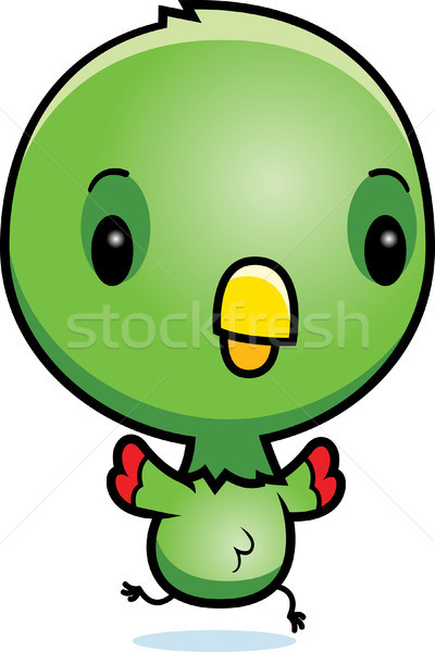 Cartoon Baby Parrot Running Stock photo © cthoman