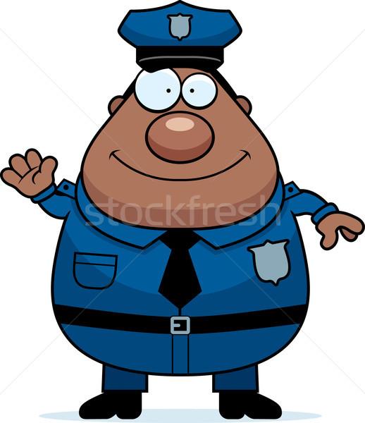 Polícia desenho animado ilustração policial homem Foto stock © cthoman