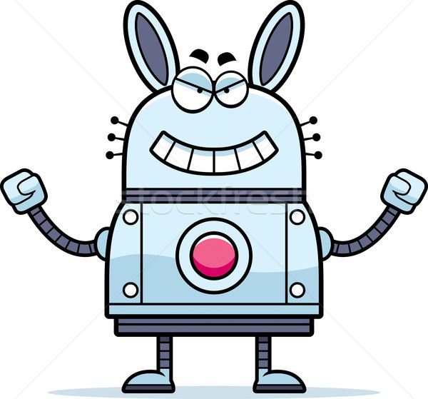 Evil Robot Rabbit Stock photo © cthoman