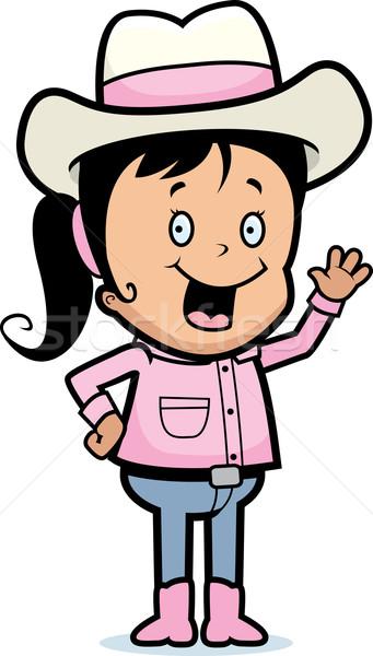 Cowboy Waving Stock photo © cthoman