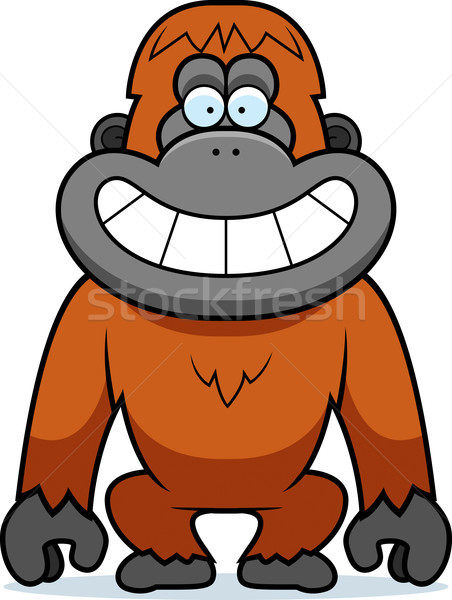 Cartoon Orangutan Grin Stock photo © cthoman