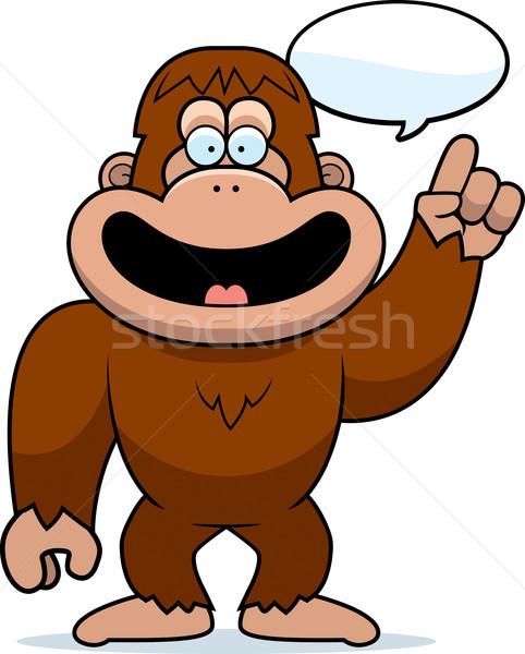 Cartoon Bigfoot Talking Stock photo © cthoman