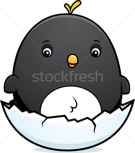 Cartoon ребенка пингвин яйцо иллюстрация птица Сток-фото © cthoman