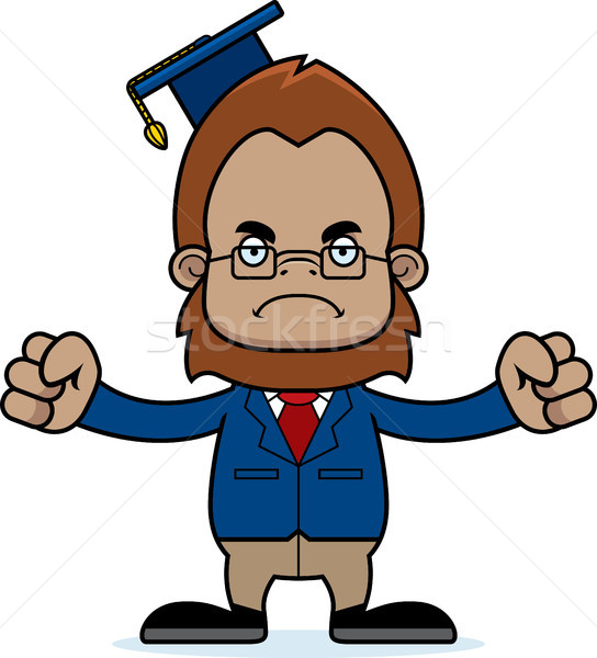 Cartoon Angry Teacher Sasquatch Stock photo © cthoman