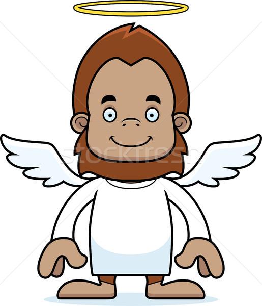 Cartoon Smiling Angel Sasquatch Stock photo © cthoman
