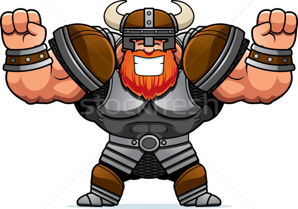 Cartoon Viking Celebrating Stock photo © cthoman