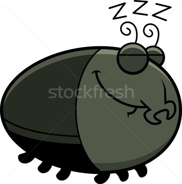 寝 漫画 カブトムシ 実例 幸せ 動物 ストックフォト © cthoman