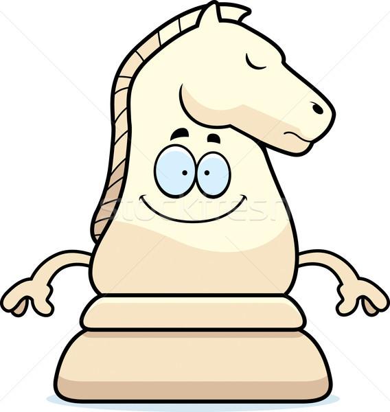 Happy Cartoon Chess Knight Stock photo © cthoman