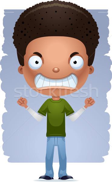 Cartoon pazza teen ragazzo illustrazione Foto d'archivio © cthoman