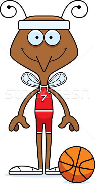 Cartoon Smiling Basketball Player Mosquito Stock photo © cthoman