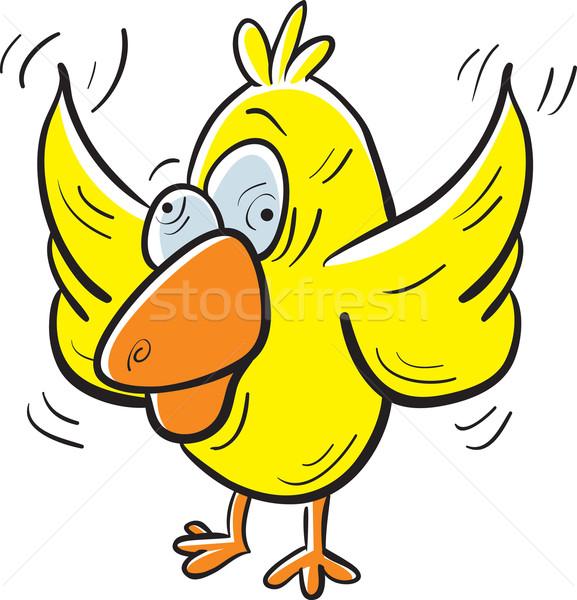 Crazy птица Cartoon собака мало желтый Сток-фото © cthoman