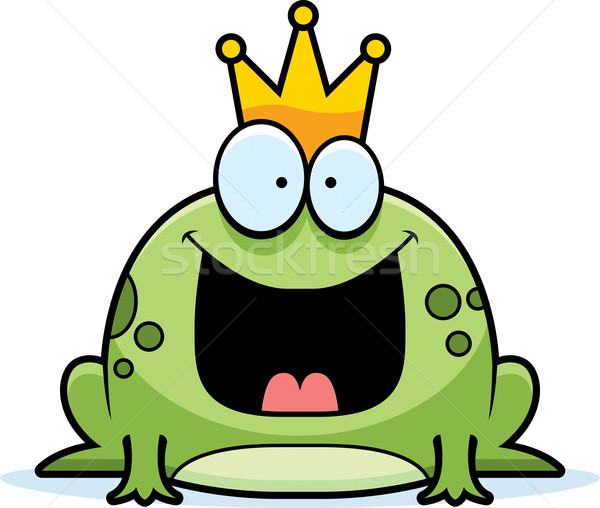 Cartoon Frog Prince Stock photo © cthoman