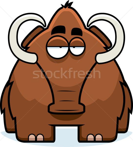 Cartoon Woolly Mammoth Stock photo © cthoman