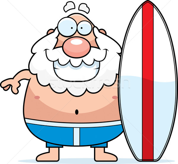 Cartoon uomo tavola da surf surf persona sorridere Foto d'archivio © cthoman
