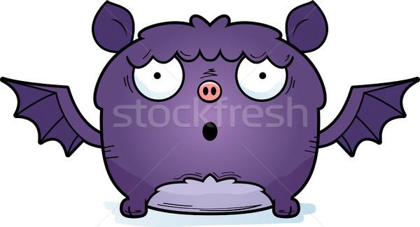 Sorprendido pequeño bate Cartoon ilustración mirando Foto stock © cthoman