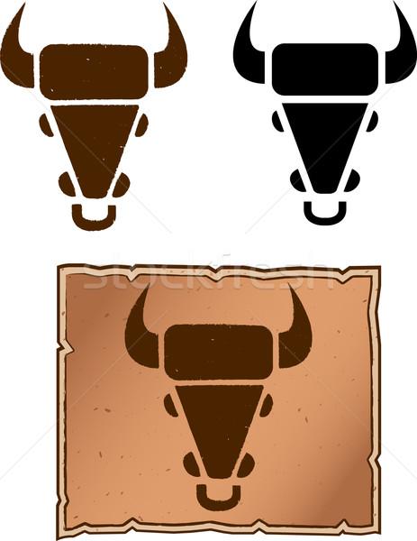 Bovins marque vache tête design Photo stock © cthoman