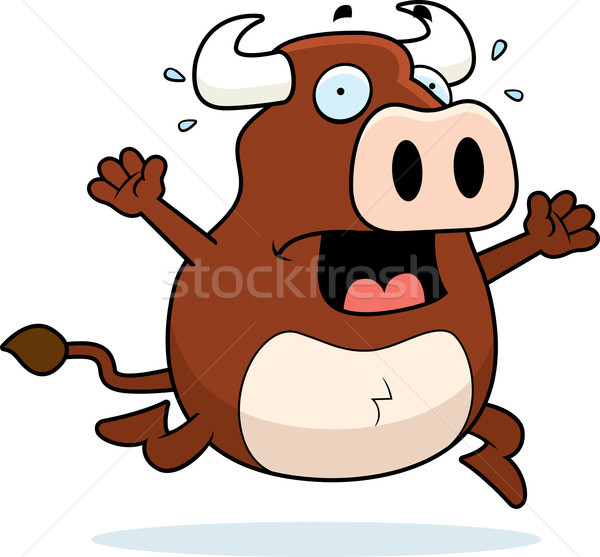 бык паника Cartoon работает животного страхом Сток-фото © cthoman