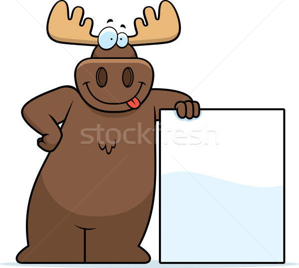 Eland gelukkig cartoon teken Stockfoto © cthoman