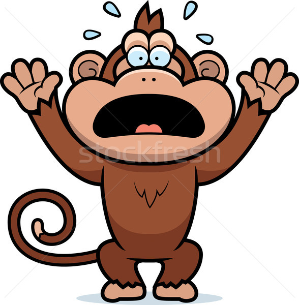 Cartoon Monkey Panicking Stock photo © cthoman