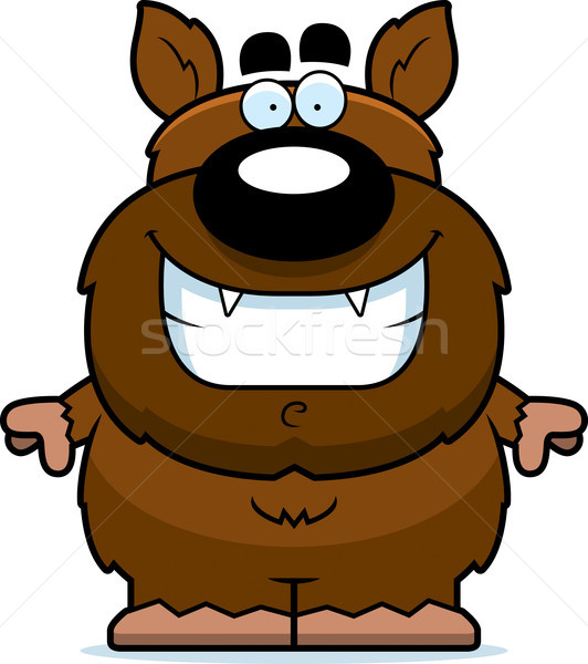 Smiling Cartoon Werewolf Stock photo © cthoman