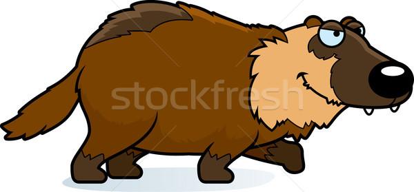Cartoon Wolverine Stalking Stock photo © cthoman