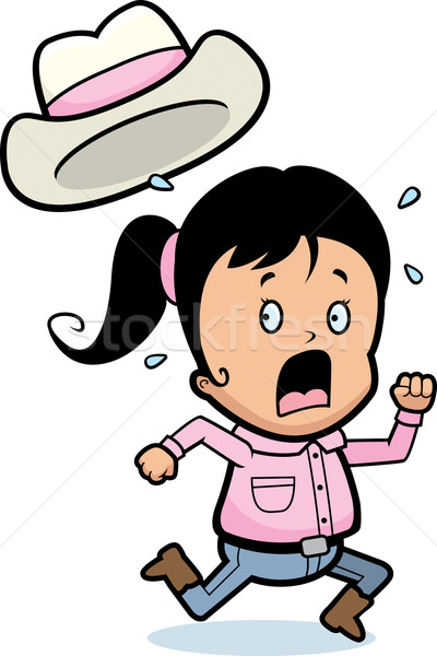 Kids running away clipart