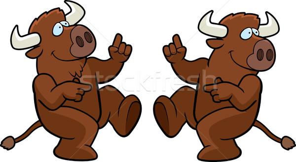 Buffalo Dancing Stock photo © cthoman