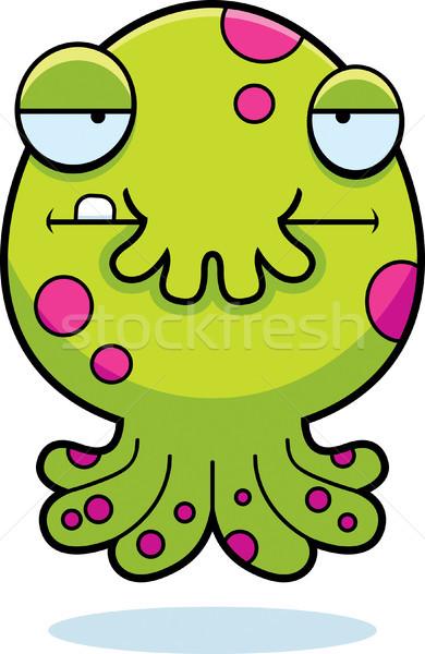 Vervelen cartoon monster illustratie weinig naar Stockfoto © cthoman