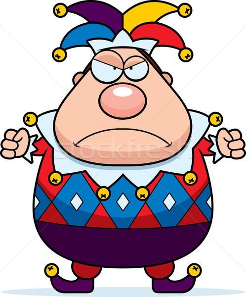 Cartoon Jester Angry Stock photo © cthoman