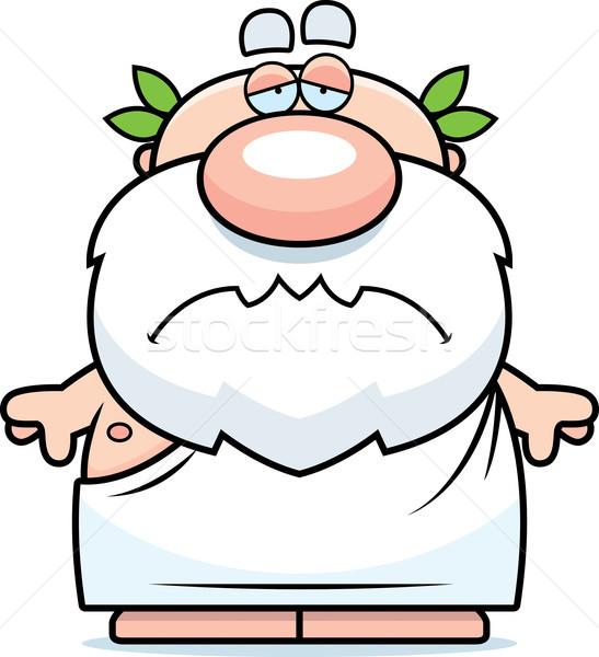 漫画 悲しい ギリシャ語 実例 見える 男 ストックフォト © cthoman