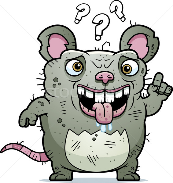 Confused Ugly Rat Stock photo © cthoman